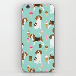 beagle ice creams dog lover pet gifts cute beagles pure breeds iPhone Skin