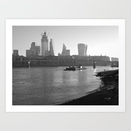 Low Tide on the Thames Art Print