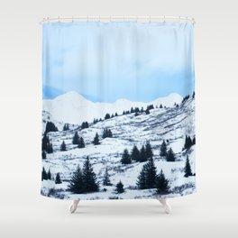 Winter Landscape Photography Print Shower Curtain