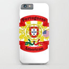 Portuguese American iPhone Case