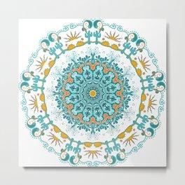 Arizona Sunset Mandala Metal Print
