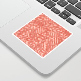 Living Coral Dots Pattern Sticker