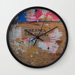 Urban Decay: Cheaper Cab Rides Wall Clock