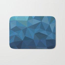 blue geometric Bath Mat