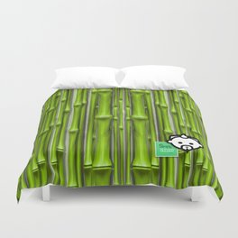 Bamboo Green HD by JC LOGAN 4 Simply Blessed Duvet Cover