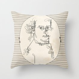Custom made Mozart Throw Pillow
