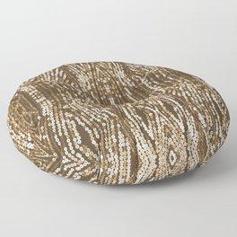 198 - Sepia gold sequins design Floor Pillow