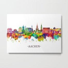Aachen Germany Skyline Metal Print