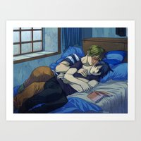 Rainy confession Art Print