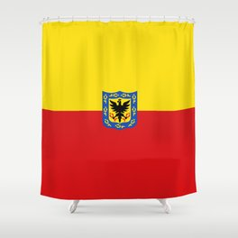 Flag of Bogota Shower Curtain