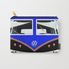 Blue Art Cute minibus Carry-All Pouch