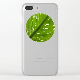 Spotted with White: Leaf Clear iPhone Case