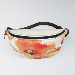Poppy Flower Meadow- Floral Summer lllustration Fanny Pack