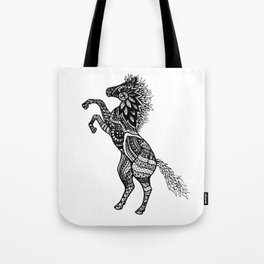 Rearing Horse Zentangle (abstract doodle) Tote Bag