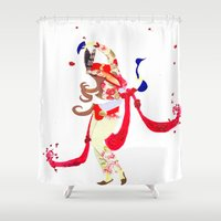persian Shower Curtains featuring Persian lady by Sheefteh