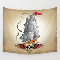 ship Wall Tapestries featuring ship by mark ashkenazi