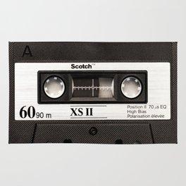 Cassette Tape Black And White #decor #homedecor #society6 Rug