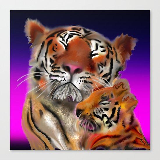 tiger tiger burning bright Canvas Print
