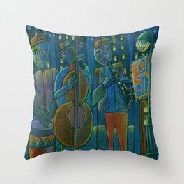 Jazz Time Late Night Jam Throw Pillow