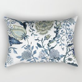 Blue vintage chinoiserie flora Rectangular Pillow