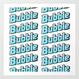 Bubble Bubble Leggings - Blue Art Print