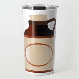 Blank Stone Bottle With Cork Travel Mug