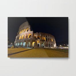 Colosseum illuminated in Rome. Metal Print