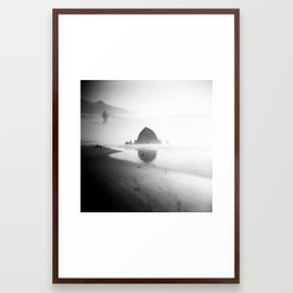 Cannon Beach, Oregon - Holga double exposure Framed Art Print