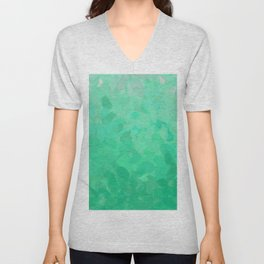 Floral Ombre (Turquoise) Unisex V-Neck