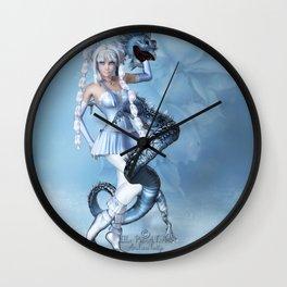 Blauer Drache Wall Clock