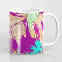 palm trees Mugs featuring Palm Trees by Marcella Wylie