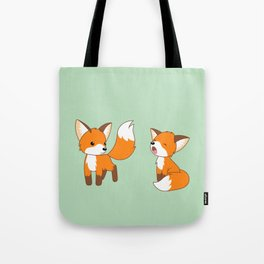 Cute Little Foxes Tote Bag