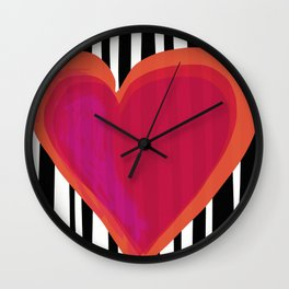 HERE IS MY HEART Wall Clock