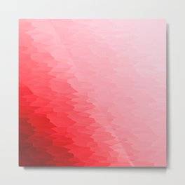 Red Texture Ombre Metal Print