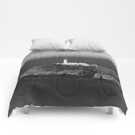 South Stack Lighthouse - Mono Comforters