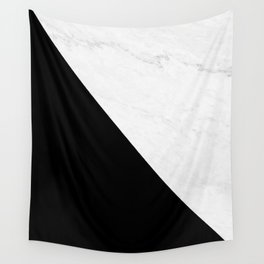 Marble And Black Diagonal Wall Tapestry