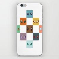 eevee iPhone & iPod Skins featuring Eyes of Eevee by Casey Sawyer