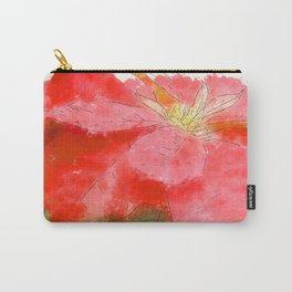Mottled Red Poinsettia 1 Ephemeral Serene Carry-All Pouch