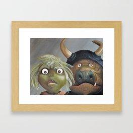 Bad Babysitters Framed Art Print