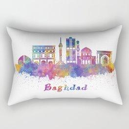 Baghdad skyline in watercolor Rectangular Pillow