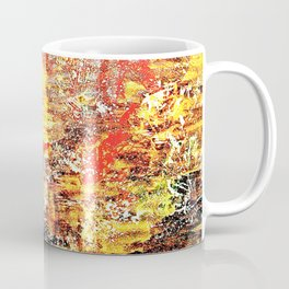Golden Autumn Abstract Coffee Mug