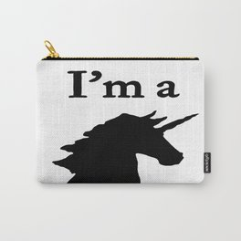 I'm a Unicorn Head in Black Carry-All Pouch