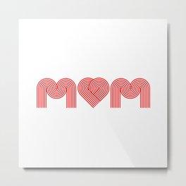 Love Mum/Mom Metal Print