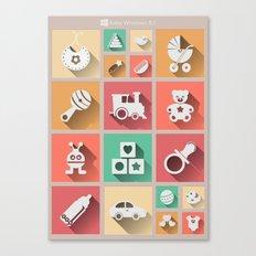 Baby Windows 8.1 Canvas Print