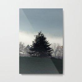 Fogged Tree Metal Print