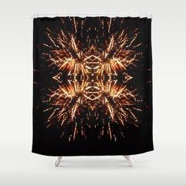 Light Explosion Shower Curtain