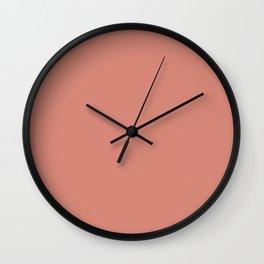 Canyon Clay Coral Tan   Solid Colour Wall Clock