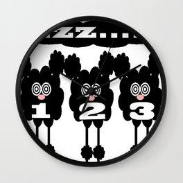bbnyc counting sheep Wall Clock