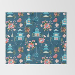 Chinoiserie Throw Blanket