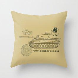 Michael Wittmann Panzer Ace 1331 Kursk Sand/Olive Green Throw Pillow